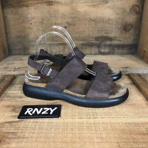 LL Bean Leather Strap Platform Sandal